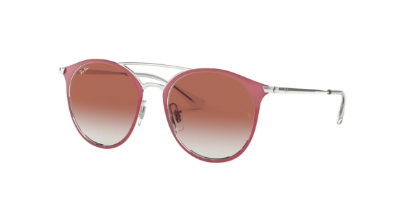 RAY-BAN RJ9545S style-color 274/V0 Silver ON Top Red