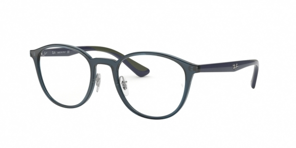 RAY-BAN RX7156 style-color 5796 Trasparent Dark Blue