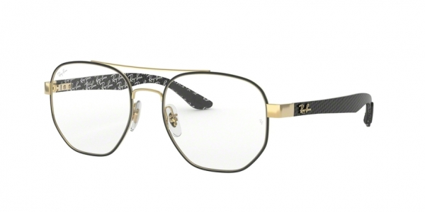 RAY-BAN RX8418 style-color 3014 Gold ON Top Matte Black