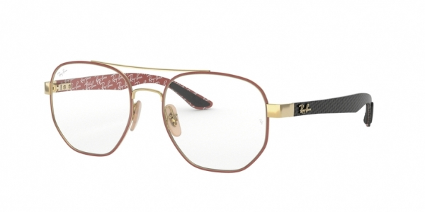 RAY-BAN RX8418 style-color 3015 Gold ON Top Matte Bordeaux