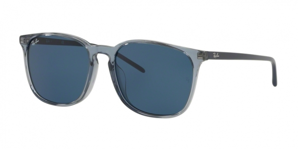 RAY-BAN RB4387F ASIAN FIT style-color 126480 Trasparent Blue