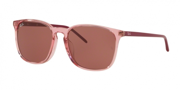 RAY-BAN RB4387F ASIAN FIT style-color 126575 Trasparent Pink