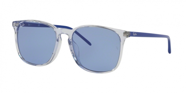 RAY-BAN RB4387F ASIAN FIT style-color 126676 Trasparent Light Blue