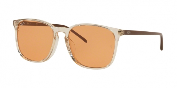 RAY-BAN RB4387F ASIAN FIT style-color 126774 Trasparent Light Brown