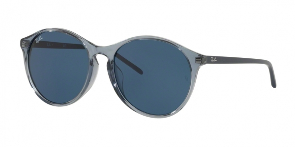 RAY-BAN RB4371F ASIAN FIT style-color 126480 Trasparent Blue