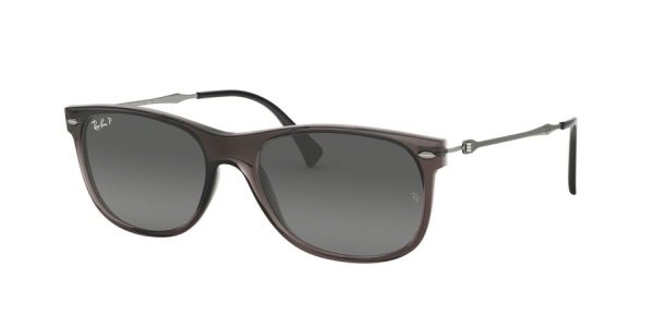 RAY-BAN RB4318 style-color 606/T3 Trasparent Grey
