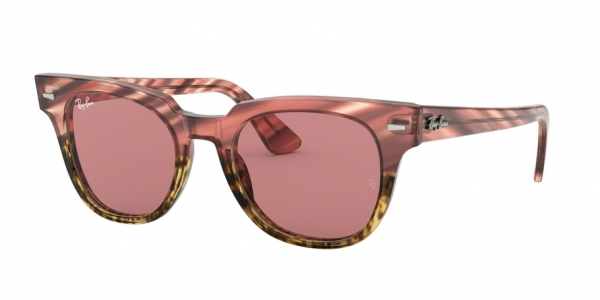 RAY-BAN RB2168 METEOR style-color 1253U0 Pink Gradient Beige Stripped