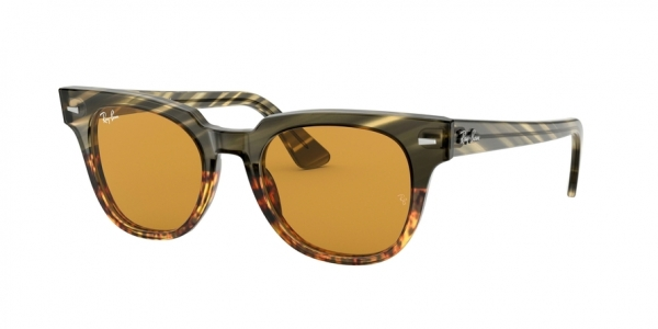 RAY-BAN RB2168 METEOR style-color 12683L Green Gradient Brown Stripped