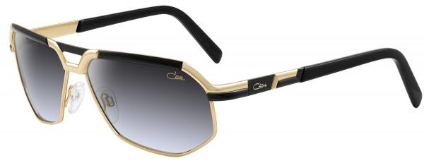 CAZAL 9056 style-color 001 Black-Gold/Grey Gradient Lenses
