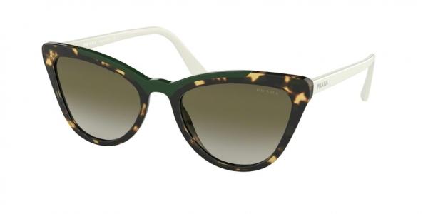 PRADA PR 01VS CONCEPTUAL style-color 3215O2 Medium Havana / Green