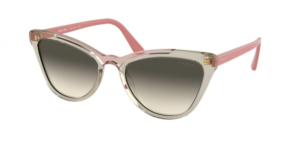 PRADA PR 01VS CONCEPTUAL style-color 326130 Transp Brown / Transp Pink