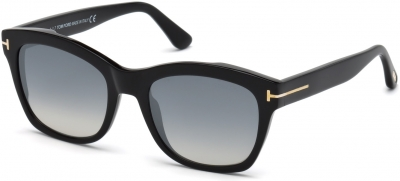 TOM FORD FT0614 LAUREN-02 33025 style-color 01C Shiny Black / Smoke Mirror