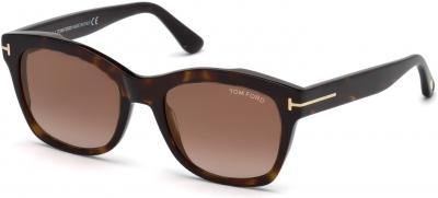 TOM FORD FT0614 LAUREN-02 33025 style-color 52F Dark Havana / Gradient Brown