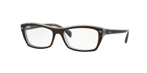 RAY-BAN RX5255 (51) style-color 5076 Top Brown ON Opal Azure