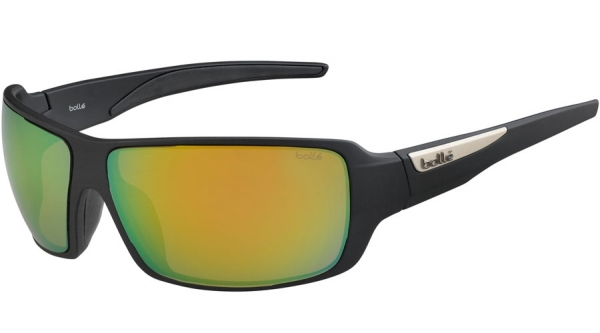 BOLLE CARY style-color 12221 MATTE BLACK / HD POLARIZED BROWN EMERALD
