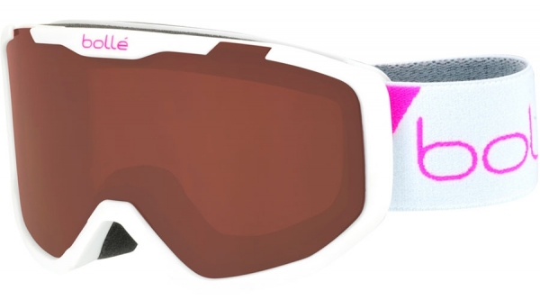BOLLE ROCKET SKI & SNOWBOARD GOGGLES style-color 21770 Matte White Race / Rosy Bronze