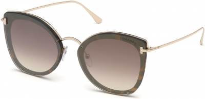 TOM FORD FT0657 CHARLOTTE 35722 style-color 52G Dark Havana / Brown Mirror