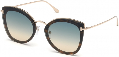 TOM FORD FT0657 CHARLOTTE 35722 style-color 53P Blonde Havana / Gradient Green