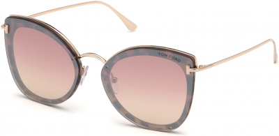TOM FORD FT0657 CHARLOTTE 35722 style-color 55Z Coloured Havana / Gradient