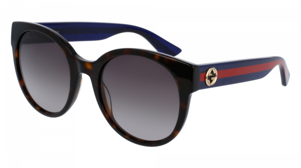 GUCCI GG0035S style-color Havana/BLUE 004 / Brown Gradient Lens