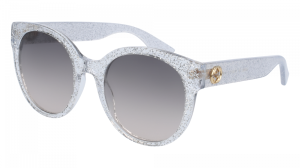 GUCCI GG0035S style-color Silver 007 / Brown Gradient Lens