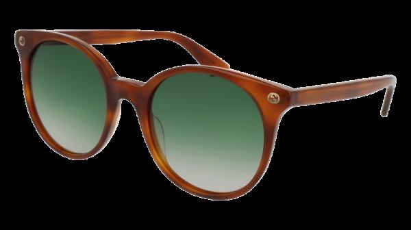 GUCCI GG0091S style-color Havana 002 / Green Gradient Lens
