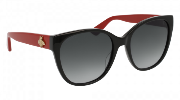 GUCCI GG0097S style-color Black/RED 005 / GREY Lens