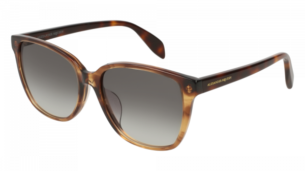 ALEXANDER MCQUEEN AM0145SA ASIAN FIT style-color Havana 003
