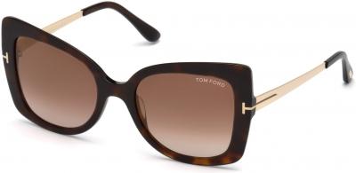 TOM FORD FT0609 GIANNA-02 33088 style-color 52G Dark Havana / Brown Mirror
