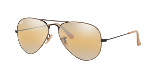 RAY-BAN RB3025 AVIATOR LARGE METAL style-color 9153AG Black ON Top Matte Beige