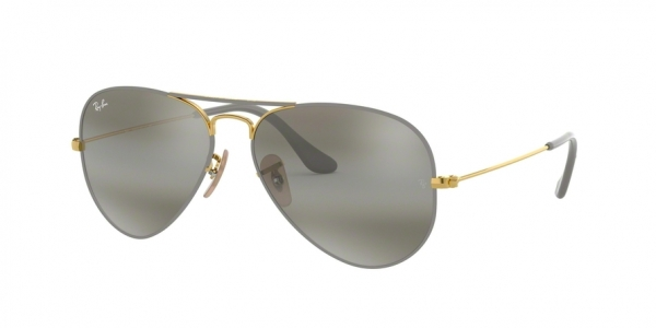 RAY-BAN RB3025 AVIATOR LARGE METAL style-color 9154AH Gold ON Top Matte Grey