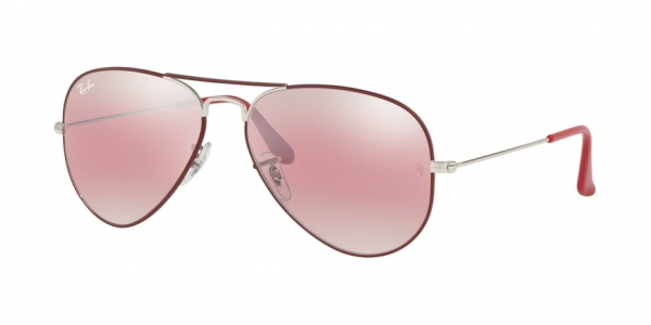 RAY-BAN RB3025 AVIATOR LARGE METAL style-color 9155AI Silver ON Top Matte Bordeaux