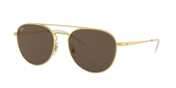RAY-BAN RB3589 style-color 901373 Rubber Gold