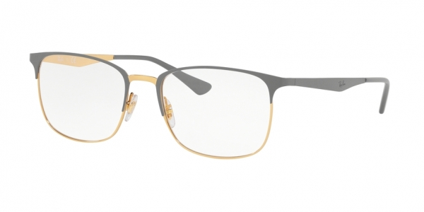 RAY-BAN RX6421 style-color 3039 Top Matte Grey ON Shiny Gold