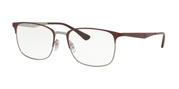 RAY-BAN RX6421 style-color 3040 Top Matte Brown ON Shiny Gunme