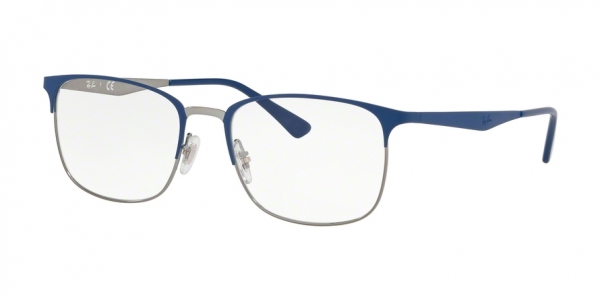 RAY-BAN RX6421 style-color 3041 Top Matte Blue ON Shiny Gunmet