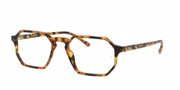 RAY-BAN RX5370 style-color 5880 Havana Red