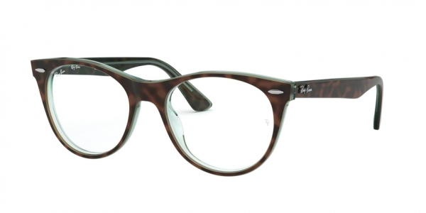 RAY-BAN RX2185V style-color 2383 Top Havana ON Green Transp