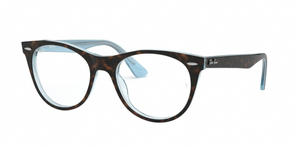 RAY-BAN RX2185V style-color 5883 Top Havana ON Light Blue