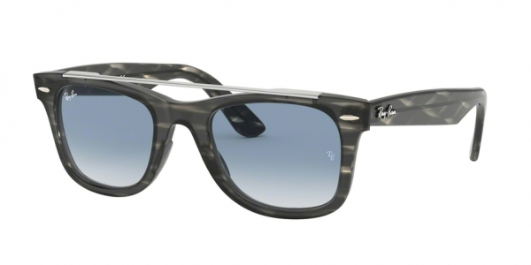 RAY-BAN RB4540F WAYFARER ASIAN FIT style-color 64123F Stripped Grey