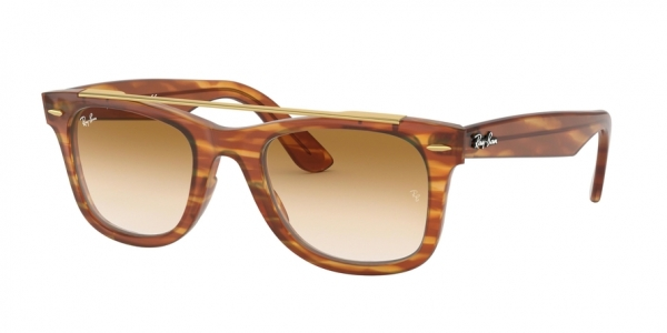 RAY-BAN RB4540F WAYFARER ASIAN FIT style-color 641351 Stripped Light Brown