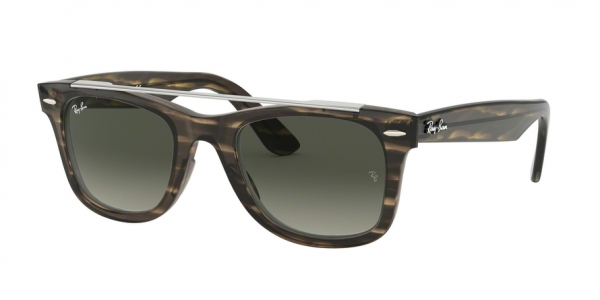 RAY-BAN RB4540F WAYFARER ASIAN FIT style-color 641471 Stripped Dark Brown