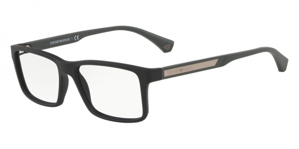 EMPORIO ARMANI EA3038 style-color 5758 Black Rubber
