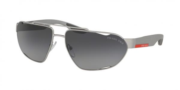 PRADA LINEA ROSSA PS 56US ACTIVE style-color 4495W1 Dark Grey Metal Rubber