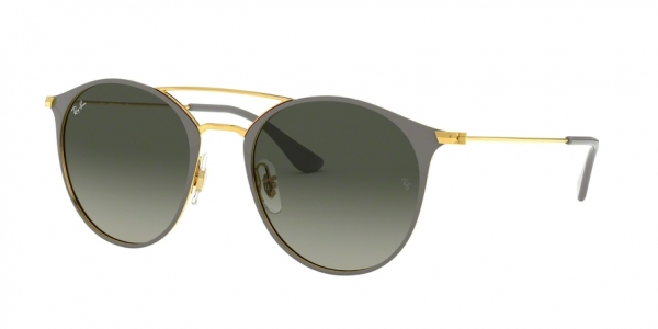 RAY-BAN RB3546 style-color 917471 Gold Top ON Grey