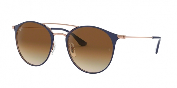 RAY-BAN RB3546 style-color 917551 Copper ON Top Dark Blue