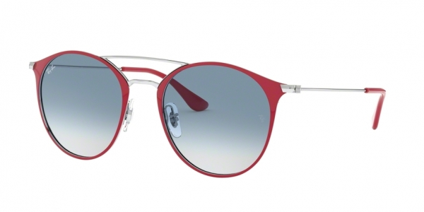 RAY-BAN RB3546 style-color 91763F Silver ON Top Bordeaux