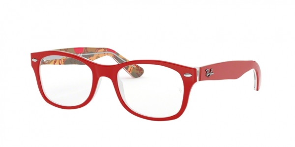 RAY-BAN RY1528 style-color 3804 Red ON Texture Red Brown