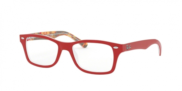 RAY-BAN RY1531 style-color 3804 Red ON Texture Red Brown
