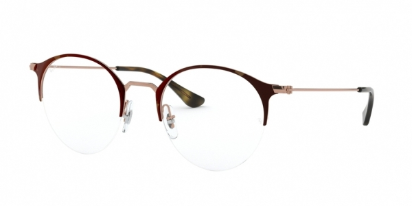 RAY-BAN RX3578V style-color 2971 Copper ON Top Havana